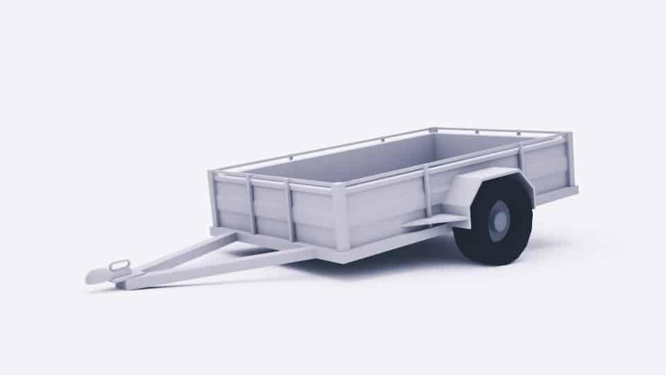 A render of a car trailer.