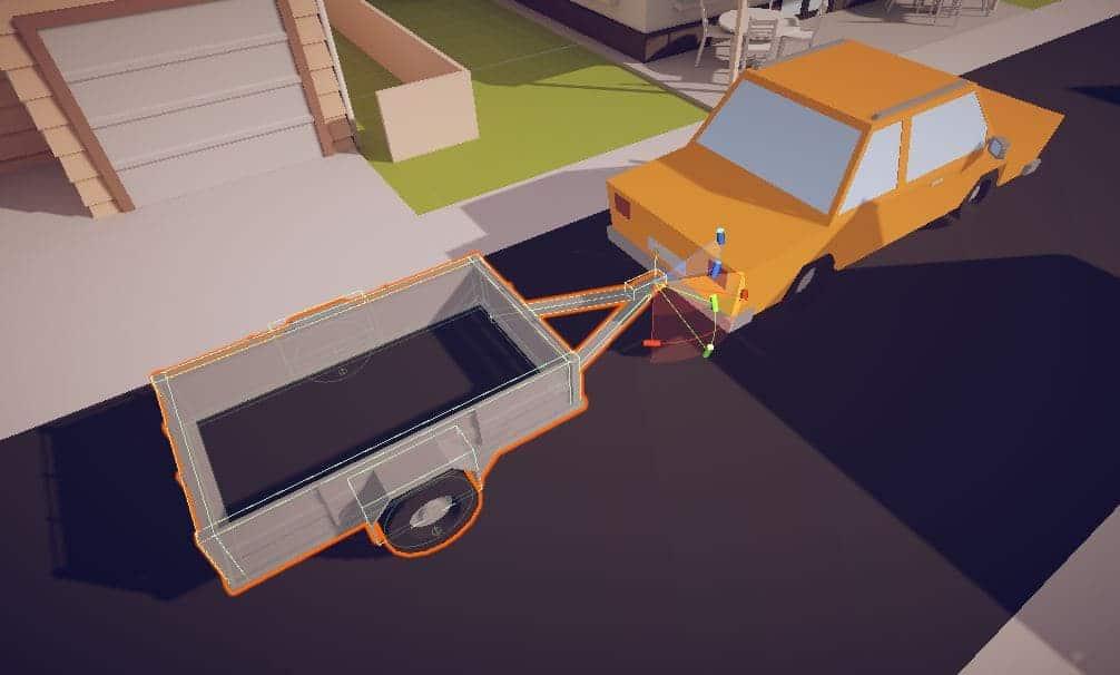 Car trailer - configurable joint setup