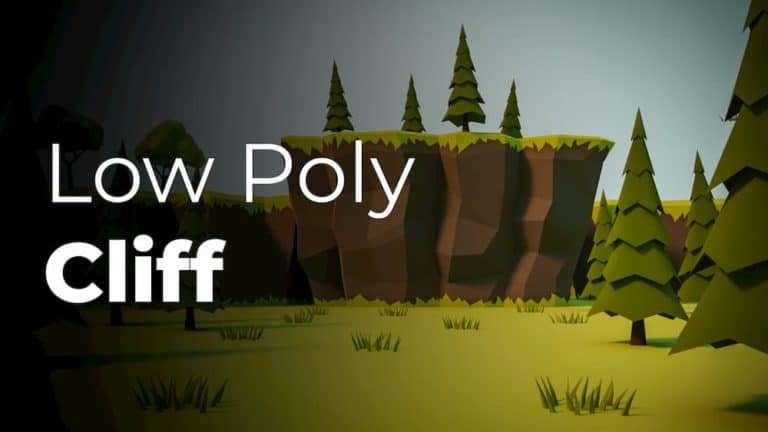 Make a low poly cliff!